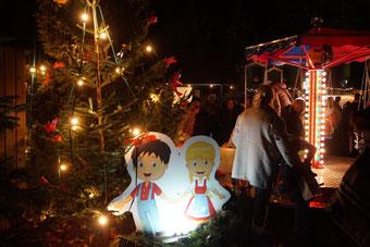 Hänsel und Gretel auf dem Hüder Weihnachtsmarkt 2019