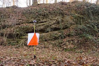 Aufbruch des Deckenschotters beim Geotop, der eine Million Jahre alt ist