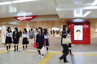 地下鉄御堂筋線なんば駅にオープンする「エキモなんば」。乗降客数1日33万人という圧倒的な通行量を狙い、「立ち寄ってもらえる商業施設をめざす」