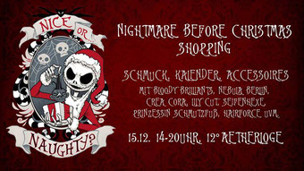 Nightmare before Christmas Shopping, Gothic und Fantasy Pop-up Store in Berlin im Dezember 2018