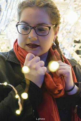 Winterliches Alltagsoutfit mit Ohrringen von Bloody Brilliants