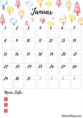 Vorschau Januar Monatsübersicht RiekesBlog.com