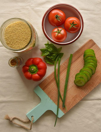 Zutaten für Couscous. Foto: RiekesBlog.