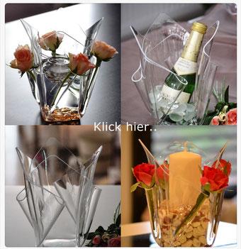 Acrylglas Vase mittel