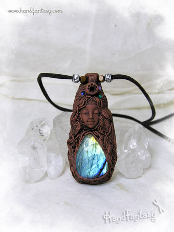 Colgante e Incensario Nativa americana, colgante nativa americana, incensario nativa americana, mujer medicina