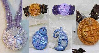 Colgante Diosa Lunar, Brazalete Sol y Luna, Colgante Luna