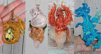 Colgante Unicornio, collar Unicornio, Unicornio bebé, Colgante Dragón, Figura Dragón