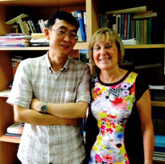 Frau Dr. Bräsel und Professor Hong