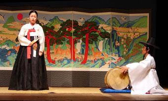 Pansori-Aufführung in Korea