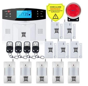 Kit #1 IOS Android APP Control inalámbrico de seguridad sistema de alarma GSM intercomunicador Control remoto autollamada sirena de Sensor