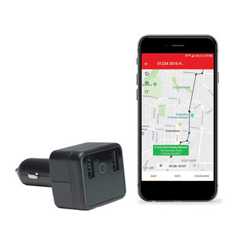 seguridadelectronica.com.gt Cargador GPS para automóvil, cargador y cargador USB con audio en vivo