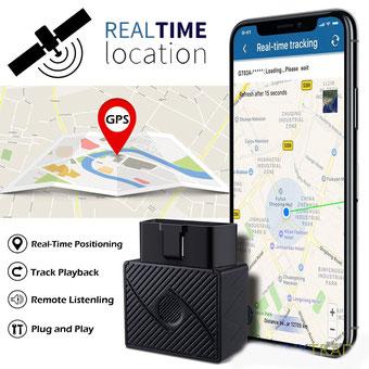 seguridadelectronica.com.gt Rastreador GPS / Sin cargo mensual OBD Localizador en tiempo real GSM / GPRS Rastreador de vehículos con aplicaciones gratis para vehículos de rastreo