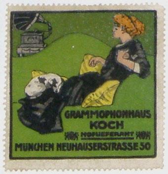 Grammophonhaus Koch Entwurf Hohlwein