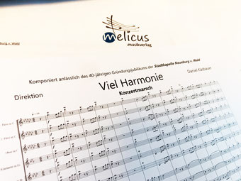 Viel Harmonie Konzertmarsch Daniel Käsbauer