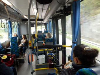 バス内部もスウェーデン色