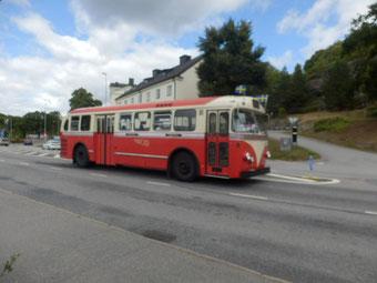 グスタフスベリ方面行きの路線バス