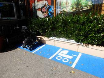 ベビーカー駐輪場 さすが福祉の国