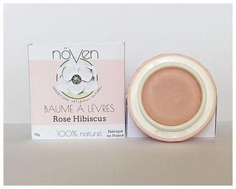 baume à lèvre rose hibiscus noven