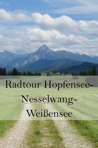 Radtour im Ostallgäu: Vom Hopfensee nach Nesselwang zum Weißensee.