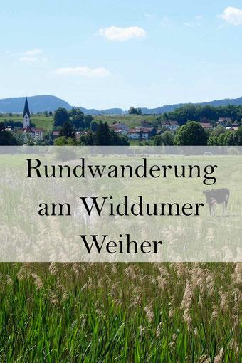 Wanderung im Allgäu: Naturschutzgebiet Widdumer Weiher, Natur erleben.