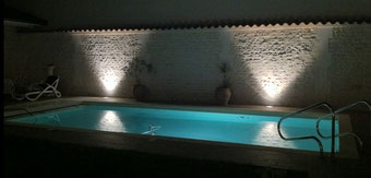 eclairage extérieur piscine opar art'elec roy en Charente