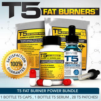 T5 FAT BURNERS POWER BUNDLE XT- STRONGEST SLIMMING / DIET PILLS +SERUM XT +PATCH  cuerpazo.net