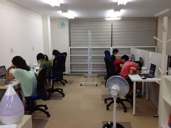 京橋、城東区の個別指導学習塾アチーブメント、教室風景