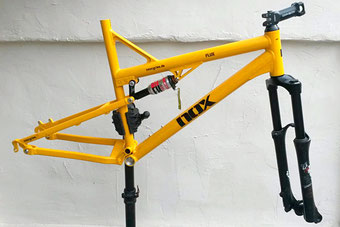 Gelber Mountainbike Rahmen