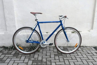 Singlespeed Fahrrad in blau