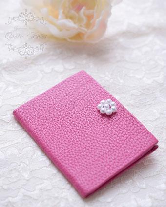 母の日 プレゼント パスケース おしゃれ ママ ローズピンク ミラー