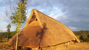 Langhaus der Rössener Zeit auf der Zeiteninsel