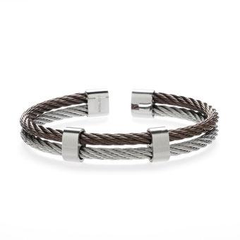 Armband, geflochtenes Drahtseil aus Edelstahl 45,00€
