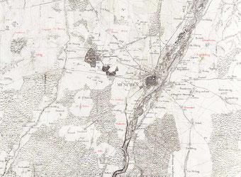 München, historische Karte 1812