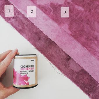 Stoffe färben mit Cochenille