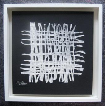 Handgeschöpftes Papier i. Objektrahmen 50x50
