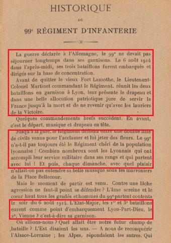 BNF (Gallica) : extrait Historique du 99e R.I. (cf. 99eRI/Historique)
