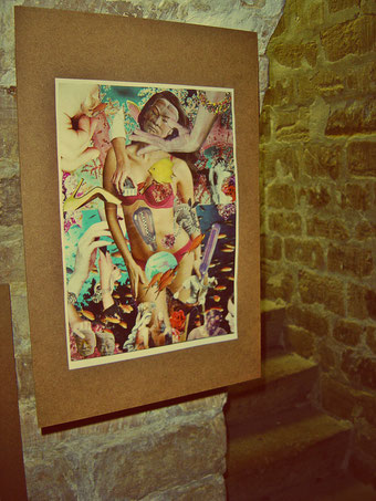 BIRTHING VENUS - collage by Steve Dalachinsky, Paris artshow