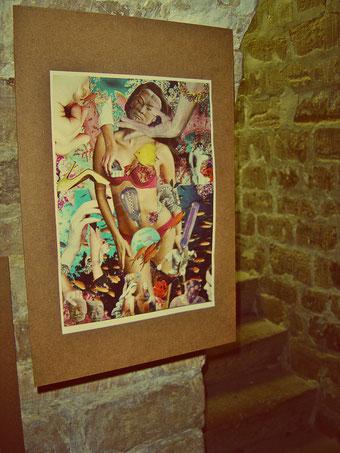 BIRTHING VENUS - collage by Steve Dalachinsky, Paris artshow