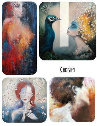 chrislen artiste peintre matière couleur artisans créateur boutique