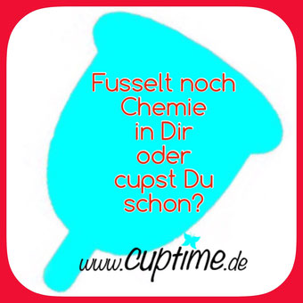 cuptime Tagefänger Menstruationstasse Gift Tampon Müll Menstrual Cup up your life coupe menstruelle copa menstrual copetta mestruale Gesundheit Umwelt Toxisches Schocksyndrom Blutung Periode Menopause have a happy cuptime Natur FemmyCycle naturcup Lunette