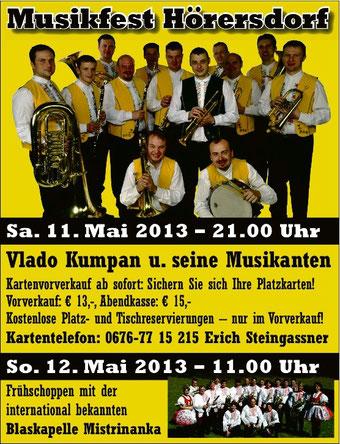 Nähere Infos finden Sie auf www.ortsmusik.hoerersdorf.at