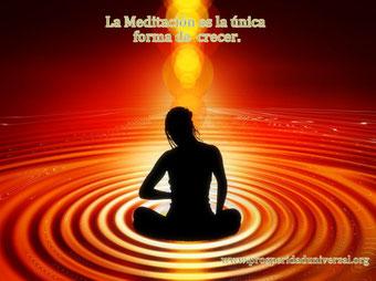 LA MEDITACIÓN ES LA ÚNICA FORMA DE CRECER - PROSPERIDAD UNIVERSAL