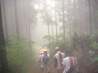 霧の桧原越