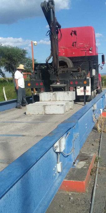 calibración y verificación  de básculas camioneras