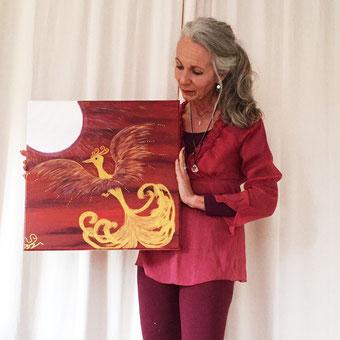 Phönix Kunst Künstlerin Stefanie Will Stefanies Wandmagie Magie Mythos Phönixvogel Phönixbild Energie Lebenskunst Ammersee