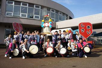 『お祭り盛り上げ隊2014with海音鼓』。終了時、青空が広がっていました