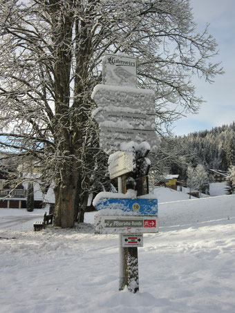 Signpost in Ramsau am Dachstein