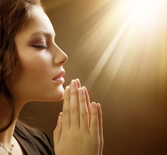 Betende Frau zu Jesus