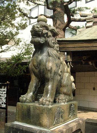 青山熊野神社 狛犬