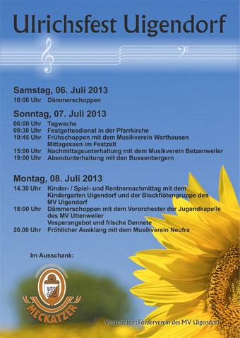 Programm Ulrichsfest 2013